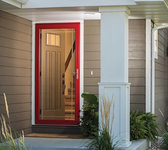 Exterior aluminum door