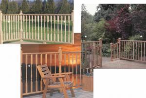 Vista Porch Posts Wood