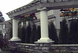 Classic Columns - Architectural aluminum columns with trellis.