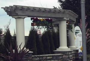 Classic Columns - heavy look columns cut on site for stone wall feature.