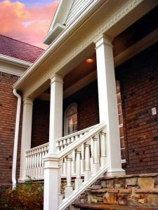 Porch with round columns from Column & Post