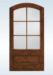JELD-WEN Exterior French Custom Aurora French Archtop Door