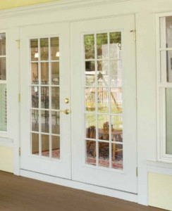 Masonite Exterior French Belleville Smooth Door with 15 Lite External Grids