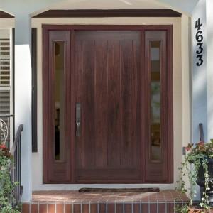 Masonite Exterior Fiberglass AvantGuard Flagstaff Finished Plank Door