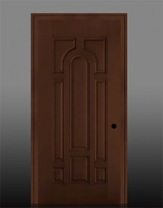 Masonite Exterior Fiberglass Belleville Mahogany Textured 8-Panel Door