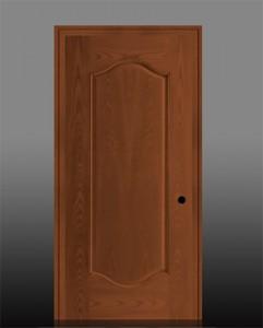 Masonite Exterior Fiberglass Belleville Oak Textured 1 Panel Door with Double Arch