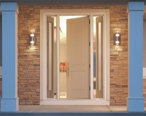 Therma Tru Smooth Star S8200 with Venting Sidelights