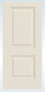 JELD-WEN Steel 90 Minute Fire-Rated 2 Panel Square Top