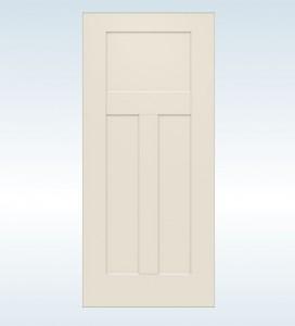 JELDWEN Exterior Steel 3-Panel Craftsman