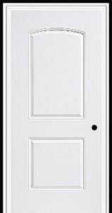 Masonite Steel HD 2 Panel Camber Top Door