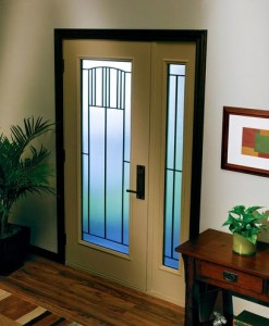 JELD-WEN Steel 1-Lite 686 with Matching Sidelight