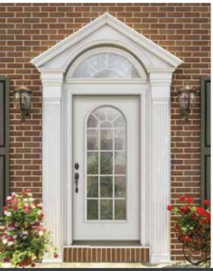 JELD-WEN Steel 1-Lite Arched Panel with Grilles