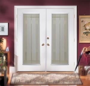 JELD-WEN Steel Double Door with Decorative Glass