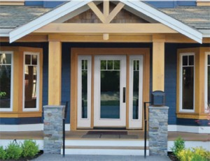 Masonite Steel MHD Craftsman with Internal Grid and Sidelights