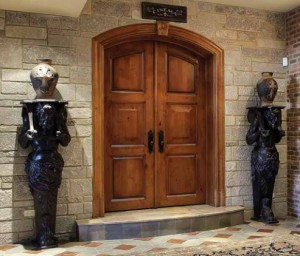 Lemieux Exterior Panel C30 Knotty Alder Door