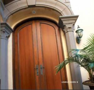 Lemieux Exterior Wood Arched Panel Door