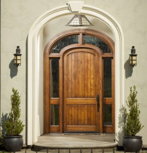 Rogue Valley Exterior Wood Panel 4082VA (V-Grooved and Arch)