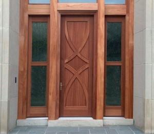 Simpson Exterior Wood Panel Concept Custom Entry Door