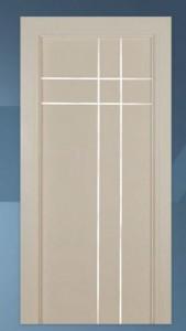 Ecco Interior Italia Contemporary MDF Door E122H2VM Groove with Aluminum Insert
