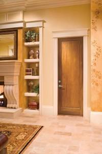 JELD-WEN Interior Custom Door E0011 in Alder with Wheat Finish