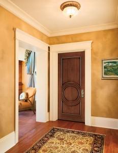 JELD-WEN Interior Custom Door E0120 in Mahogany with Cherry Finish