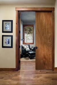 JELD-WEN Interior Flush Birch Double Doors with Oak Finishs