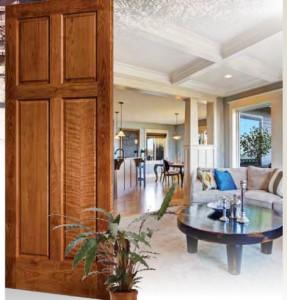 Lemieux Cherry Interior Door 422 with Cherry Stain