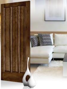 Lemieux Maple Interior Door 38 with Dark Walnut Stain