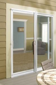 JELD-WEN Builders Vinyl Sliding Patio Door with Retractable Screen