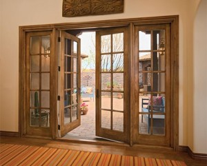 JELD-WEN Exterior Wood French Doors with Traditional Grilles