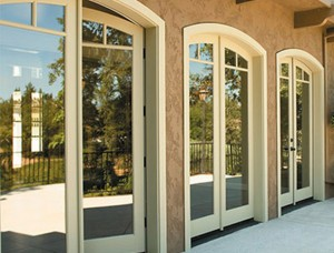 Rogue Valley Exterior French Door 4532 CAD with Archtop