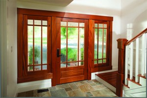 Rogue Valley Exterior French Door 4597 with Specialty Glass