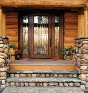 JELD-WEN Exterior Oak Full Lite Door with 880 Glass