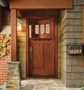 JELD-WEN Exterior Wood Craftsman Dutch Door with 383 Glass
