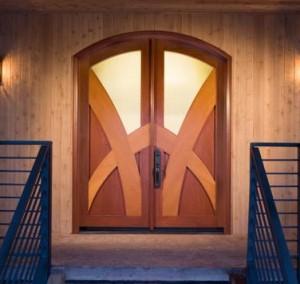 JELD-WEN Exterior Wood Custom Cherry & Alder Door with 274 Glass
