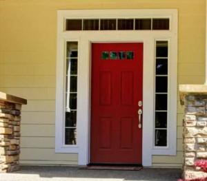 Lemieux Exterior Wood 2134 Poplar Primed Raised Panel Door