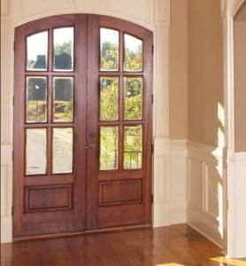 Lemieux Exterior Wood 508 White Pine with Cherry Finish and Beveled Insulated Glass