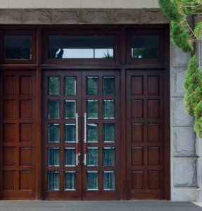 Lemieux Exterior Wood C908 Torrefied Mahogany with Cherry Stain and Beveled IG Glass