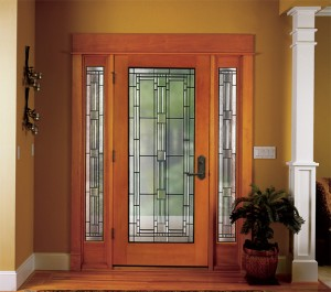 Simpson Exterior Wood Greenwich 6356 in Fir with 6347 Sidelights