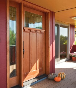 Simpson Exterior Wood Solano III 6881 in fir with 6171 Sidelight and 9541 Dentil Shelf