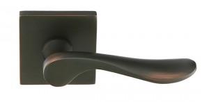 Emtek Interior Luzern Lever with Modern Rosette in Oil Rubbed Bronze