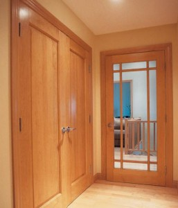 JELD-WEN Interior French Custom Glass E0509 in Cherry with Wheat Finish and Prairie Grilles