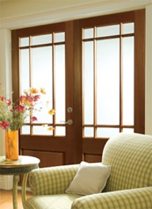 Lemieux Interior French Door with Prairie-Lite and Solid Panel