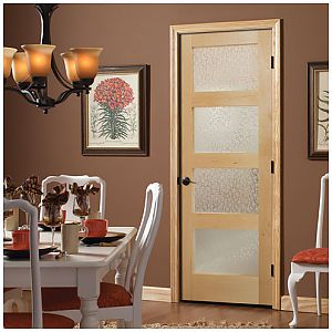 Masonite Interior French Door with Decorative Glass