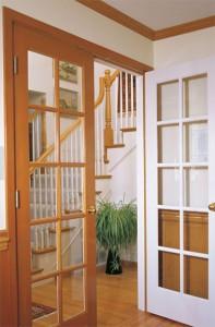 Woodgrain Interior French 10 Lite Door in Fir