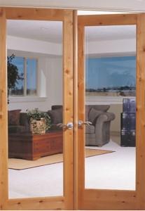 Woodgrain Interior French 1 Lite Door in Knotty Alder 620