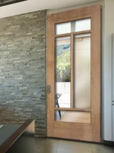 Woodgrain Interior French 4 Lite Door in Ponderosa Pine 634