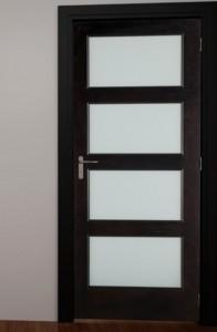 Woodgrain Interior French 4 Lite Door in Poplar with White Laminated Glass 604