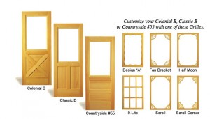 Combination Wood Door Colonial-Classic-Countryside
