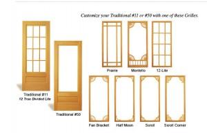 Combination Wood Door Traditional